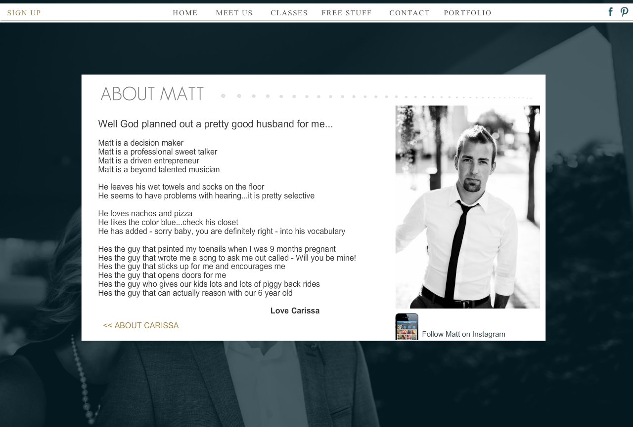 ABOUT US - MATT