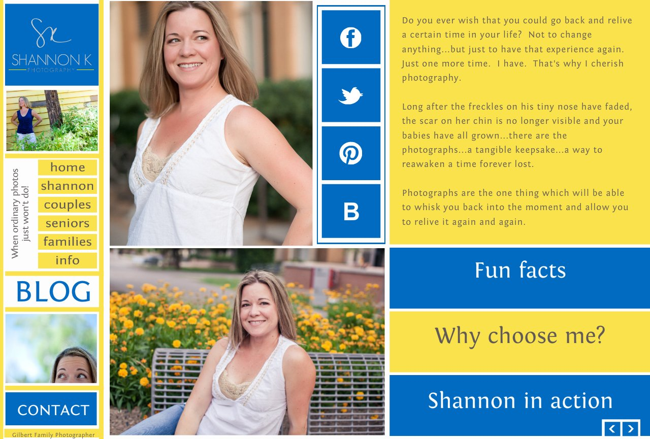 Gilbert Family and High School Senior Photographer-About Shannon K.