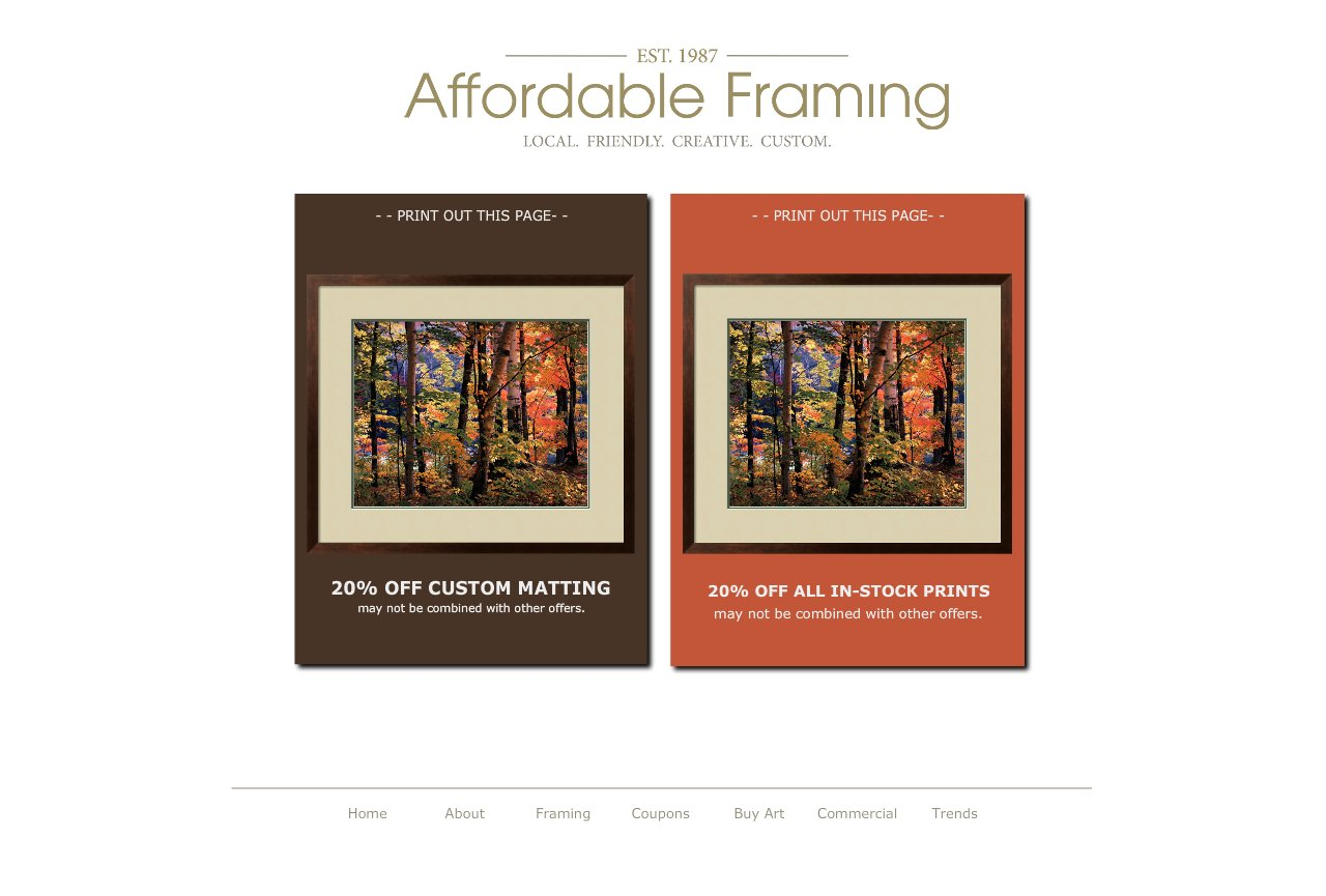 Affordable Framing :: Custom Picture Framing::Salem, Oregon :: Dec ...