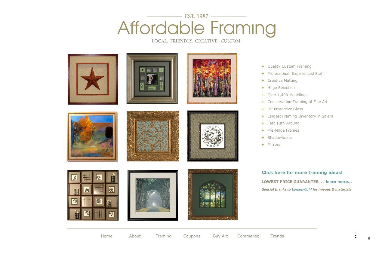 Affordable Framing :: Custom Picture Framing::Salem, Oregon :: Framing