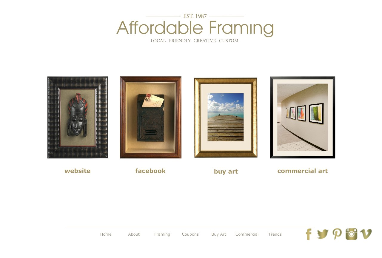 Affordable Framing :: Custom Picture Framing::Salem, Oregon :: Home