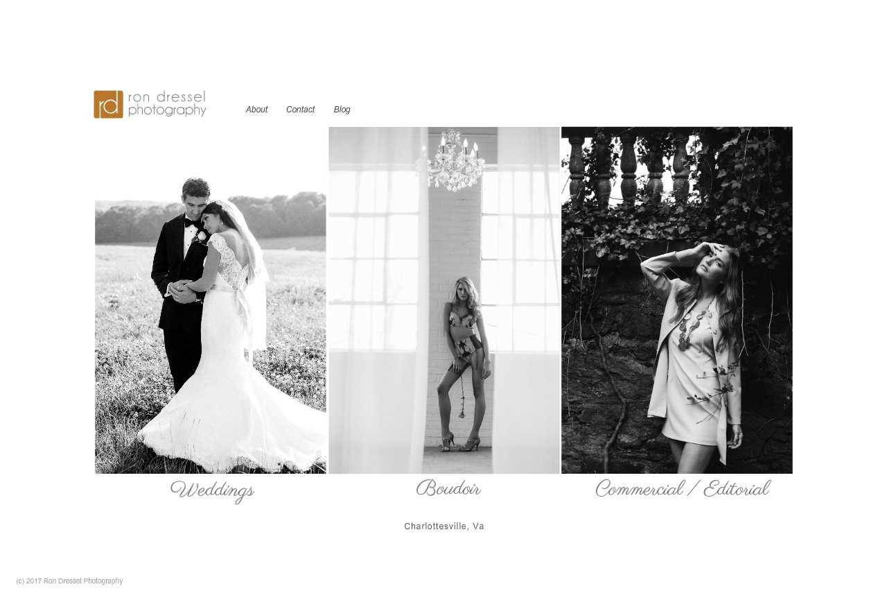 Ron Dressel Photography - Wedding and Portrait Photographer in Charlottesville, Va