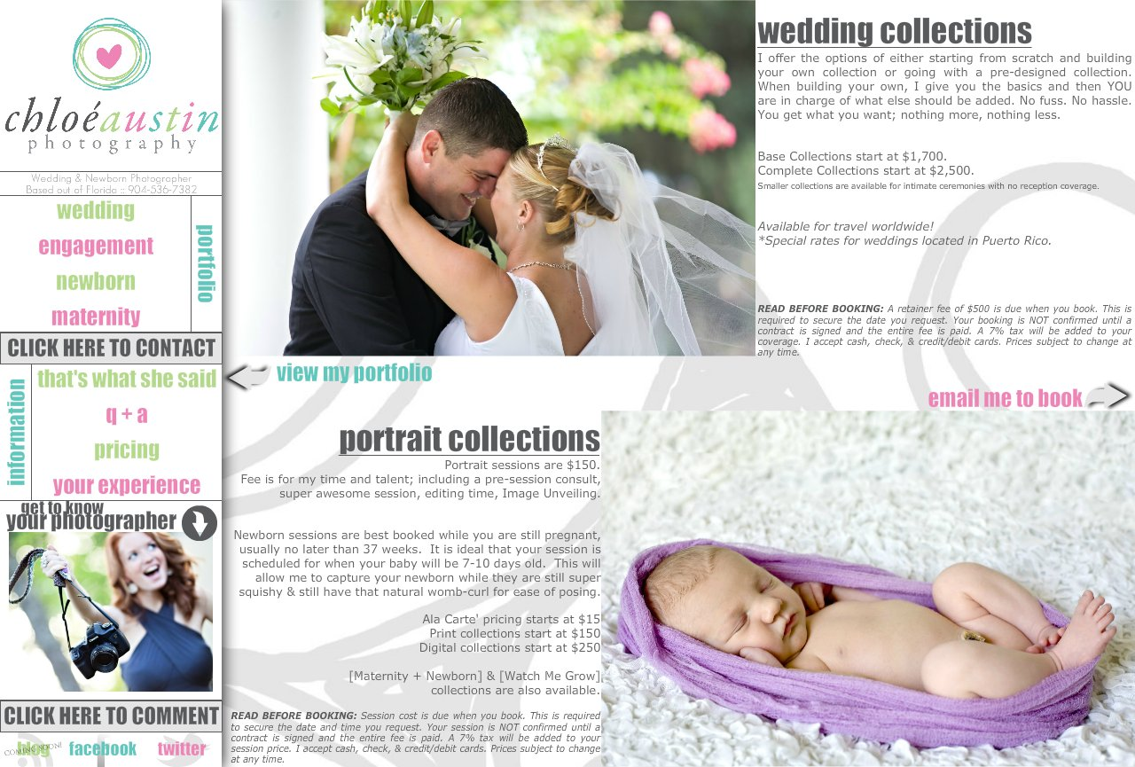 pricing :: Jacksonville Wedding and Newborn Photography