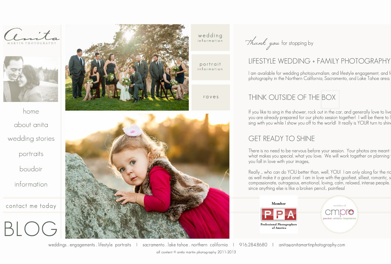 About Anita Martin Photography: Family and Wedding Photographer in Sacramento Area and Northern California