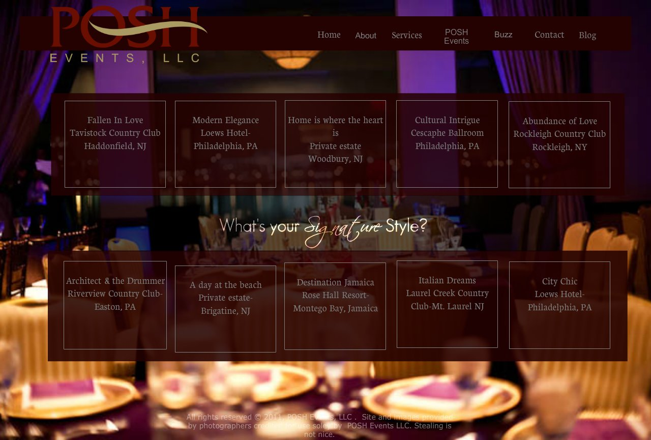 POSH Events Portfolio