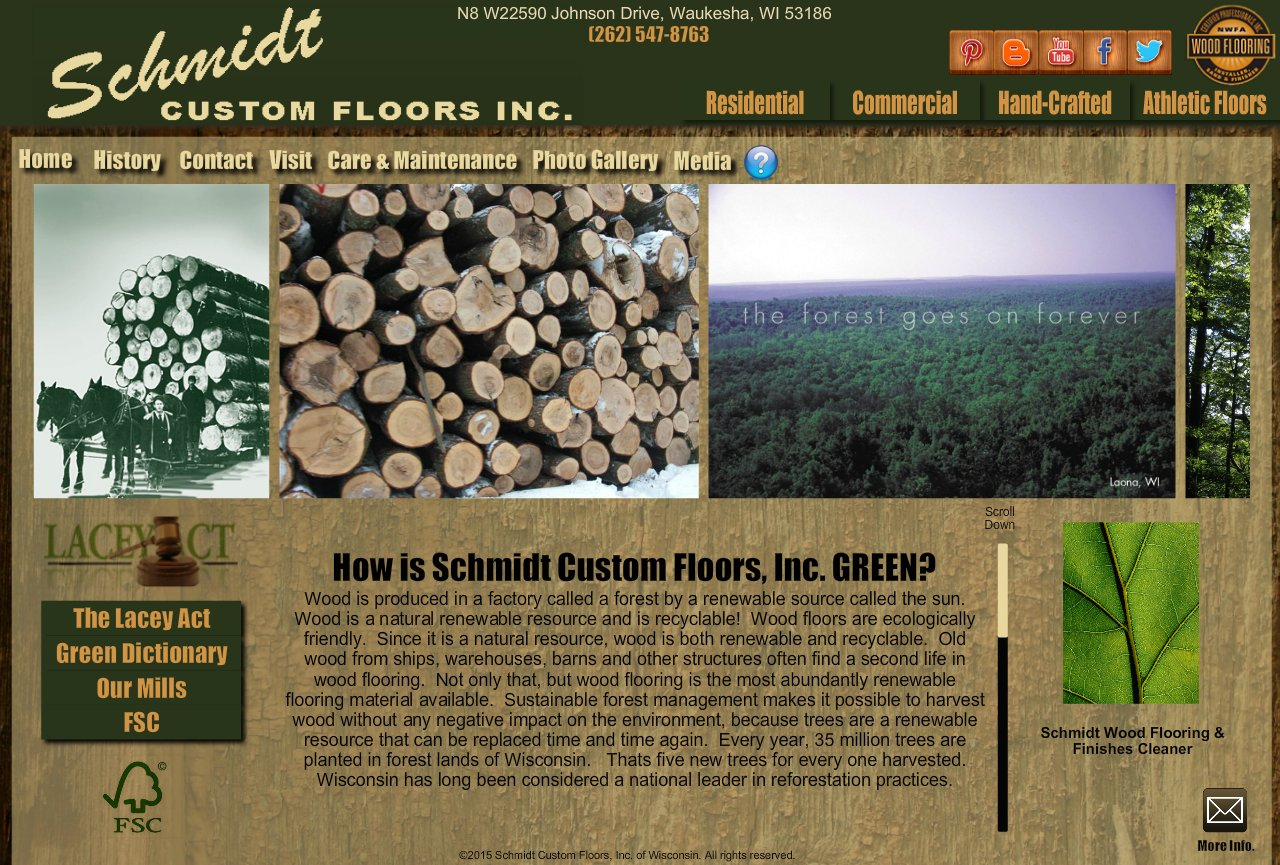 Going Green with Schmidt Custom Floors, Inc.