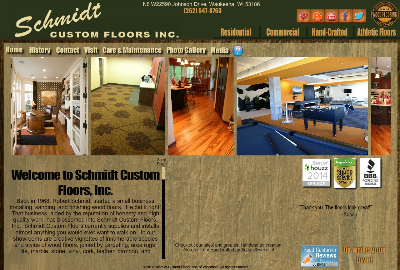 Schmidt Custom Floors Home