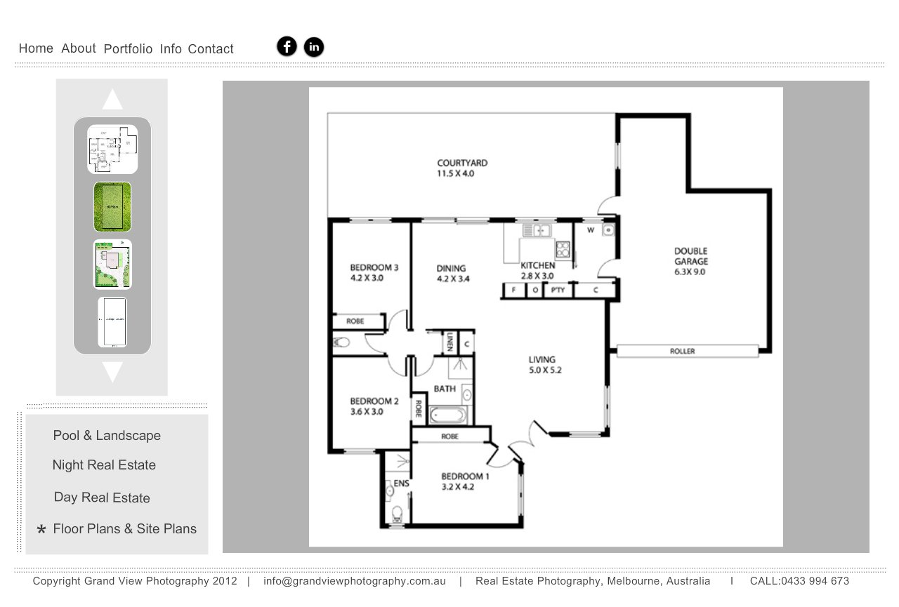 Floor and site plans by Grand View Photography, Melbourne, Victroria, Australia
