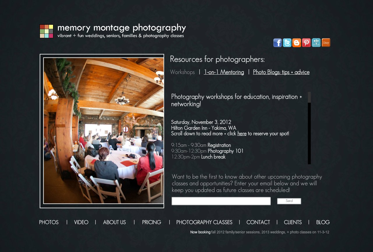 For Photographers - workshops