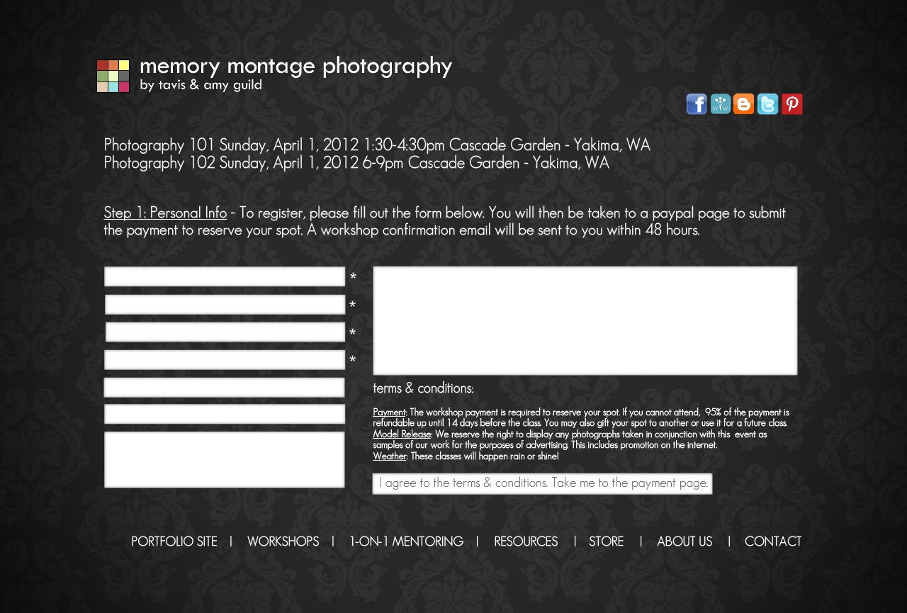 Photography Workshop Registration - 1