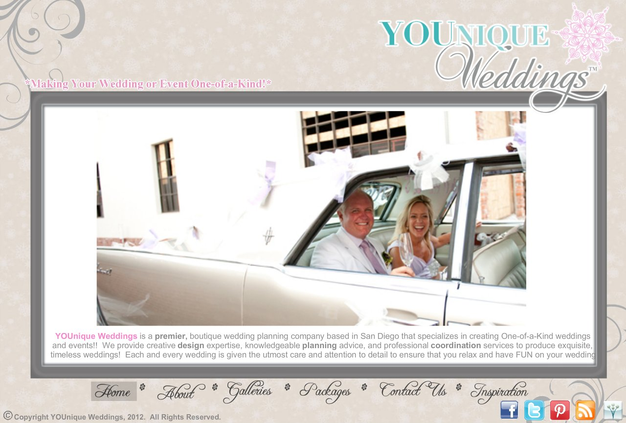 Home - YOUnique Weddings is a premier, boutique wedding planning company based in San Diego that specializes in creating One-of-a-Kind weddings and events!!  We provide creative design expertise, knowledgeable planning advice, and professional coordination services to produce exquisite, timeless weddings.