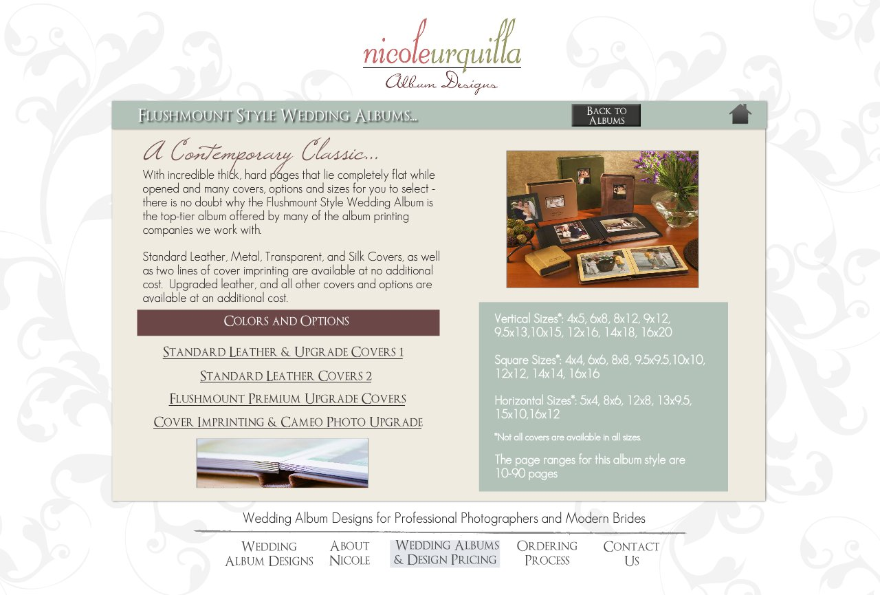 Flushmount Style Wedding Albums - Wedding Album Design Services for Professional Photographers and Individual Couples