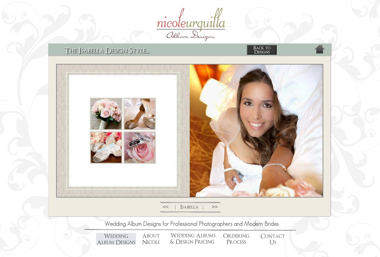 The Isabella Wedding Album Design Style - Wedding Album Design Services for Professional Photographers and Individual Couples