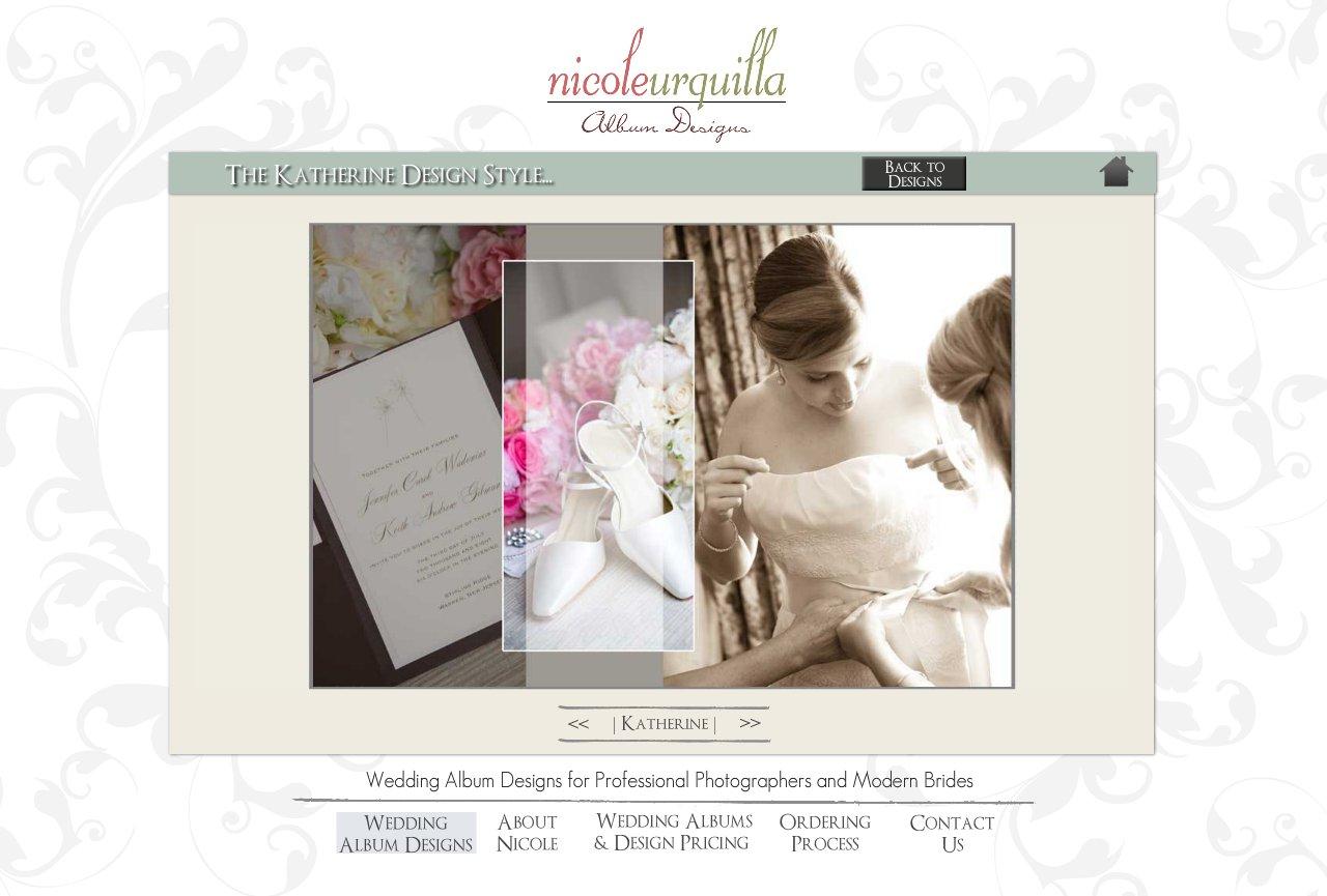 The Katherine Wedding Album Design Style - Wedding Album Design Services for Professional Photographers and Individual Couples