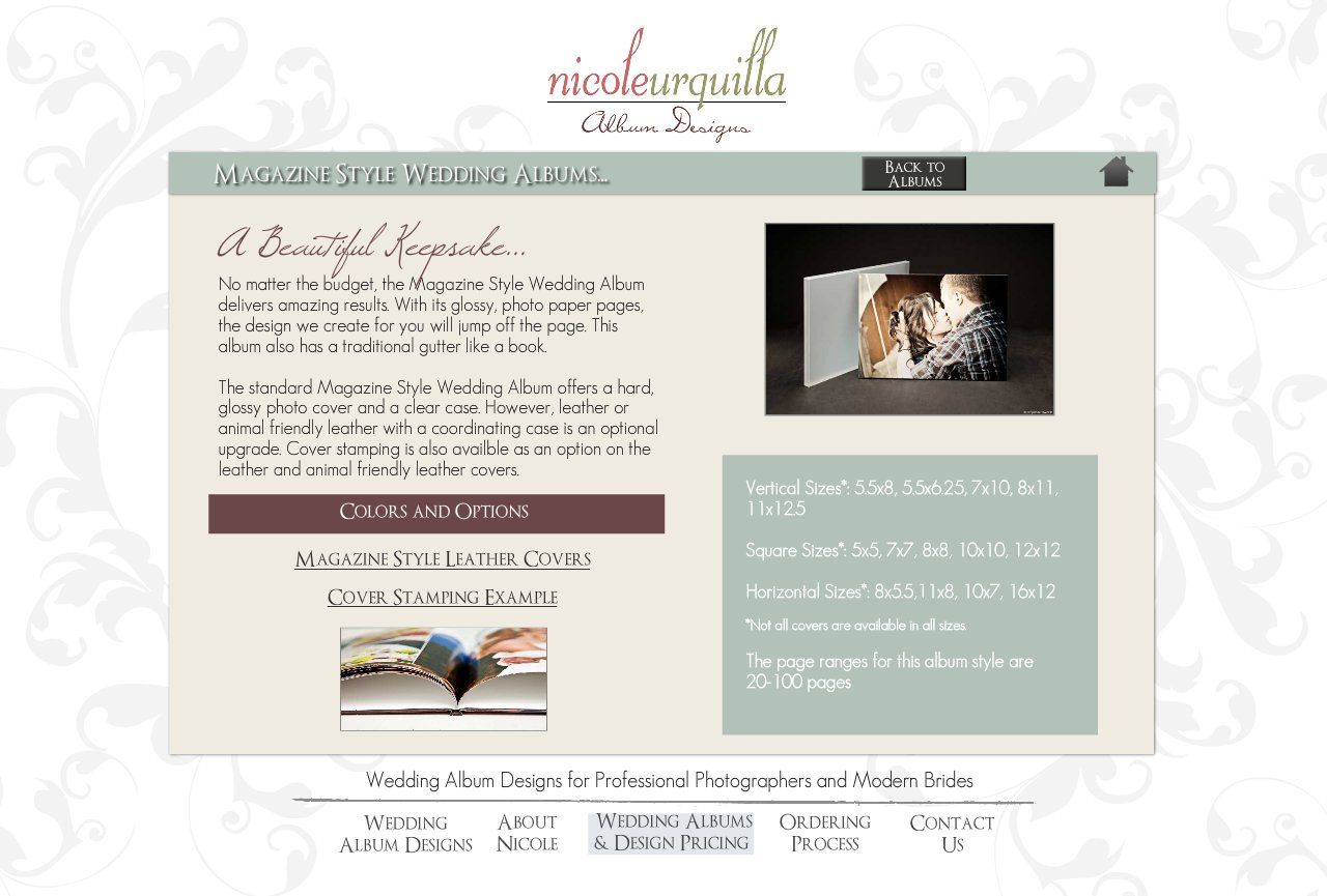 Magazine Style Wedding Albums - Wedding Album Design Services for Professional Photographers and Individual Couples