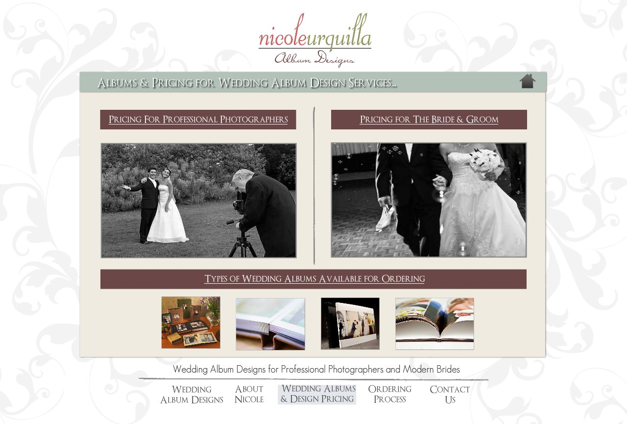 Wedding Albums and Design Pricing - Wedding Album Design Services for Professional Photographers and Individual Couples