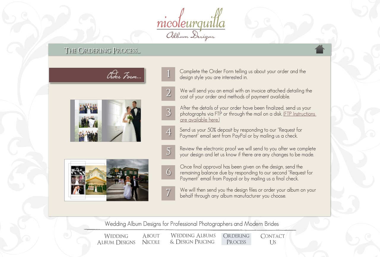 The Ordering Process - Wedding Album Design Services for Professional Photographers and Individual Couples