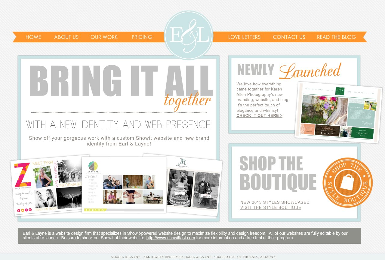 Earl & Layne | Custom Showit Website Design & Branding