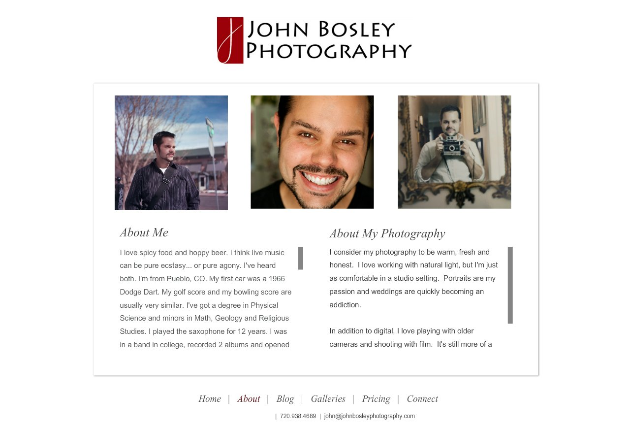Denver Portrait, Senior and Wedding Photographer - John Bosley Photography : About