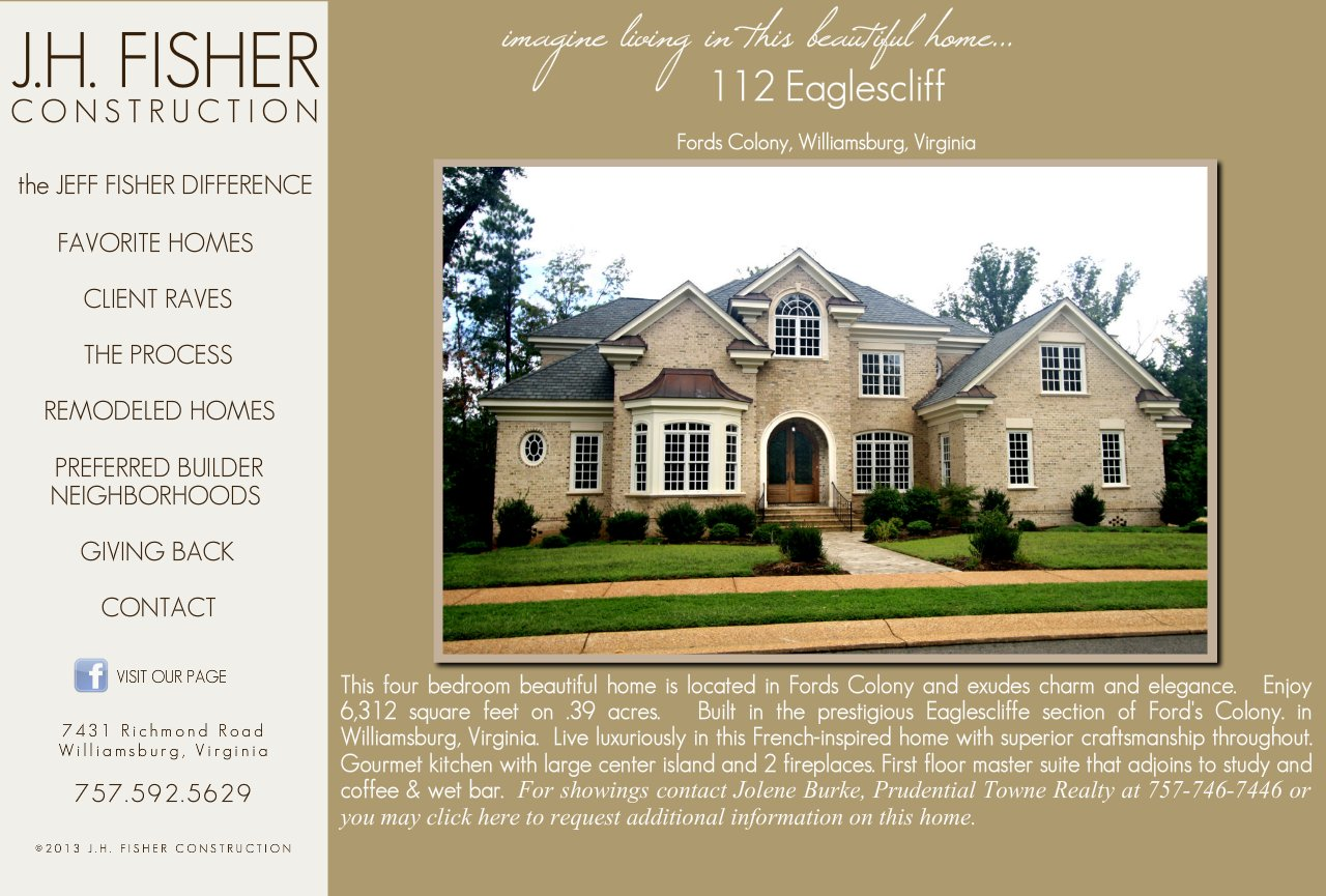J H Fisher Construction Custom Home Builder Spec Homes