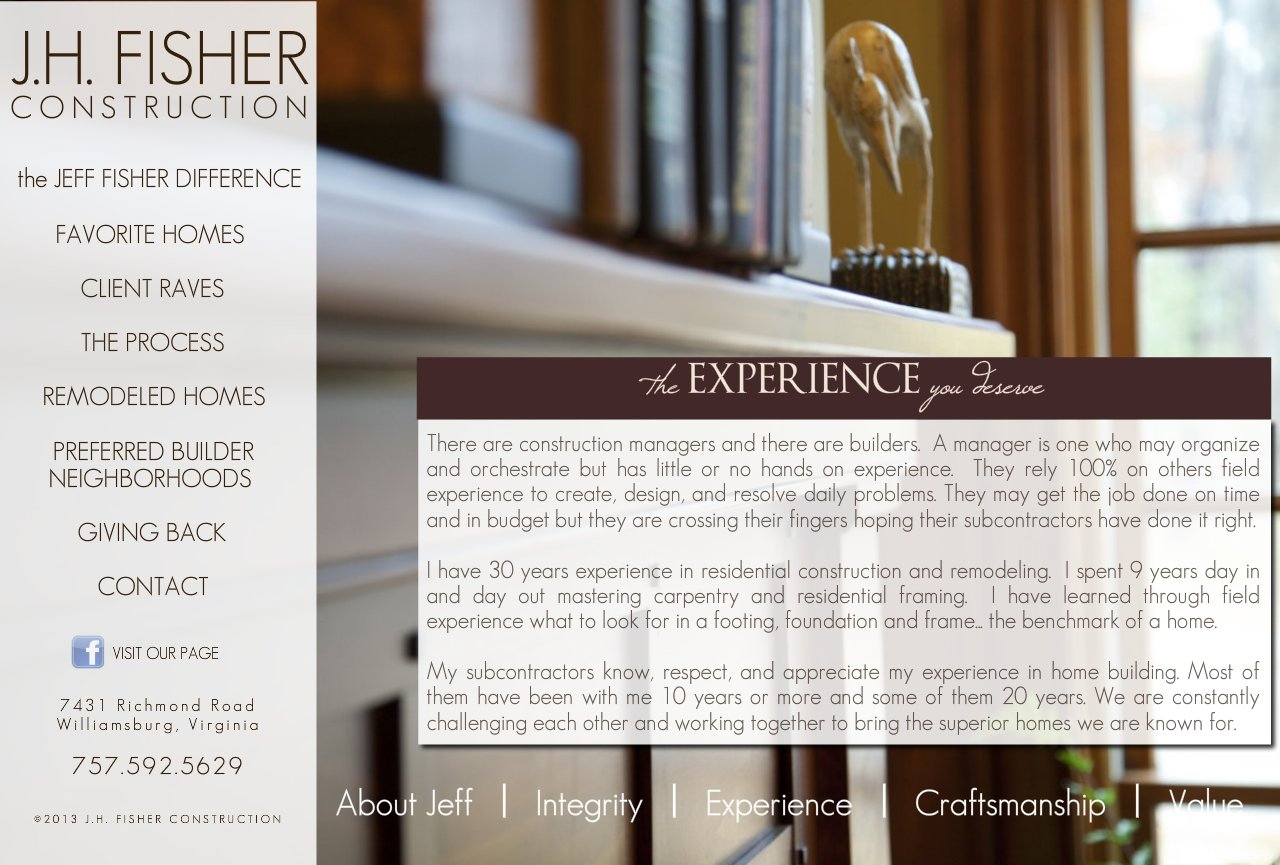 The Experience of J.H. Fisher Construction-1