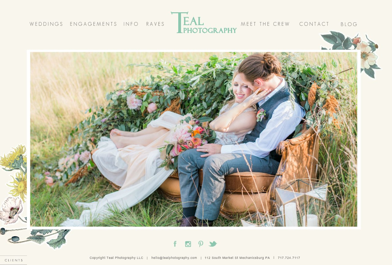 Teal Photography Home