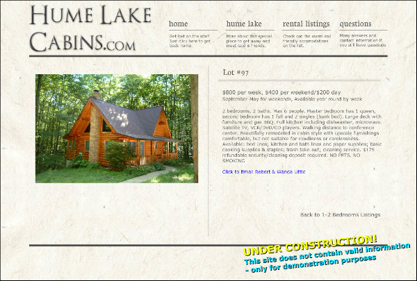hume lake cabin rentals lot 97