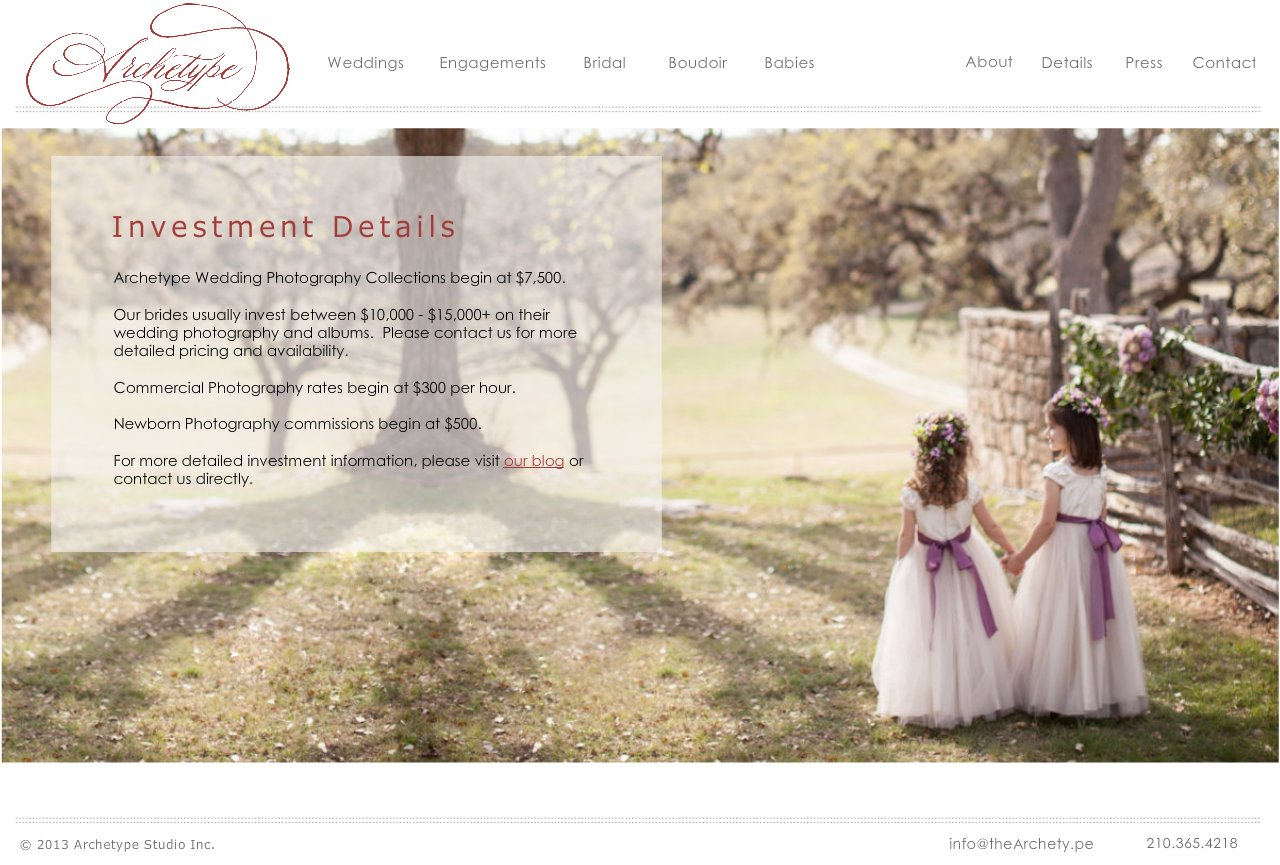 About Archetype Studio Inc - Houston, Texas Photographers