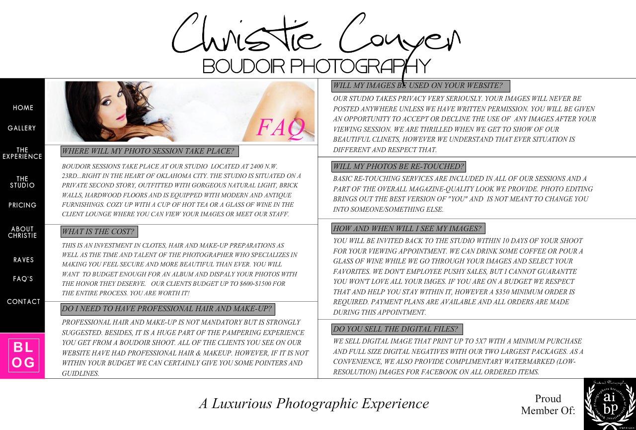 Oklahoma City Boudoir Photography FAQ