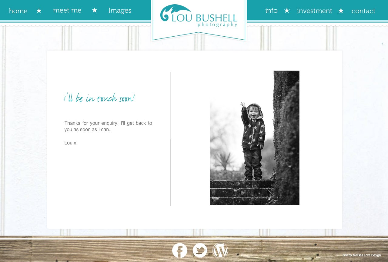 thanks | Lou Bushell Photography - West Sussex Wedding & Portrait Photographer