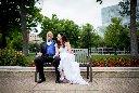 bride and groom portrait madison