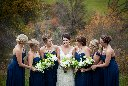 Bridesmaids at  Fall Vineyard Wedding