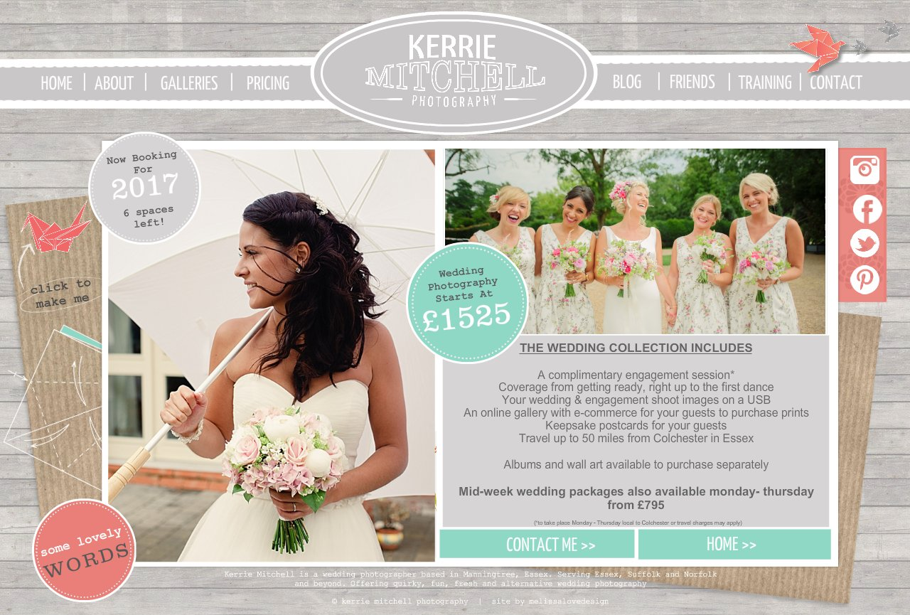 Kerrie Mitchell Photography  I  Pricing and investment  |  Essex Wedding, Family and Boudoir  Photography