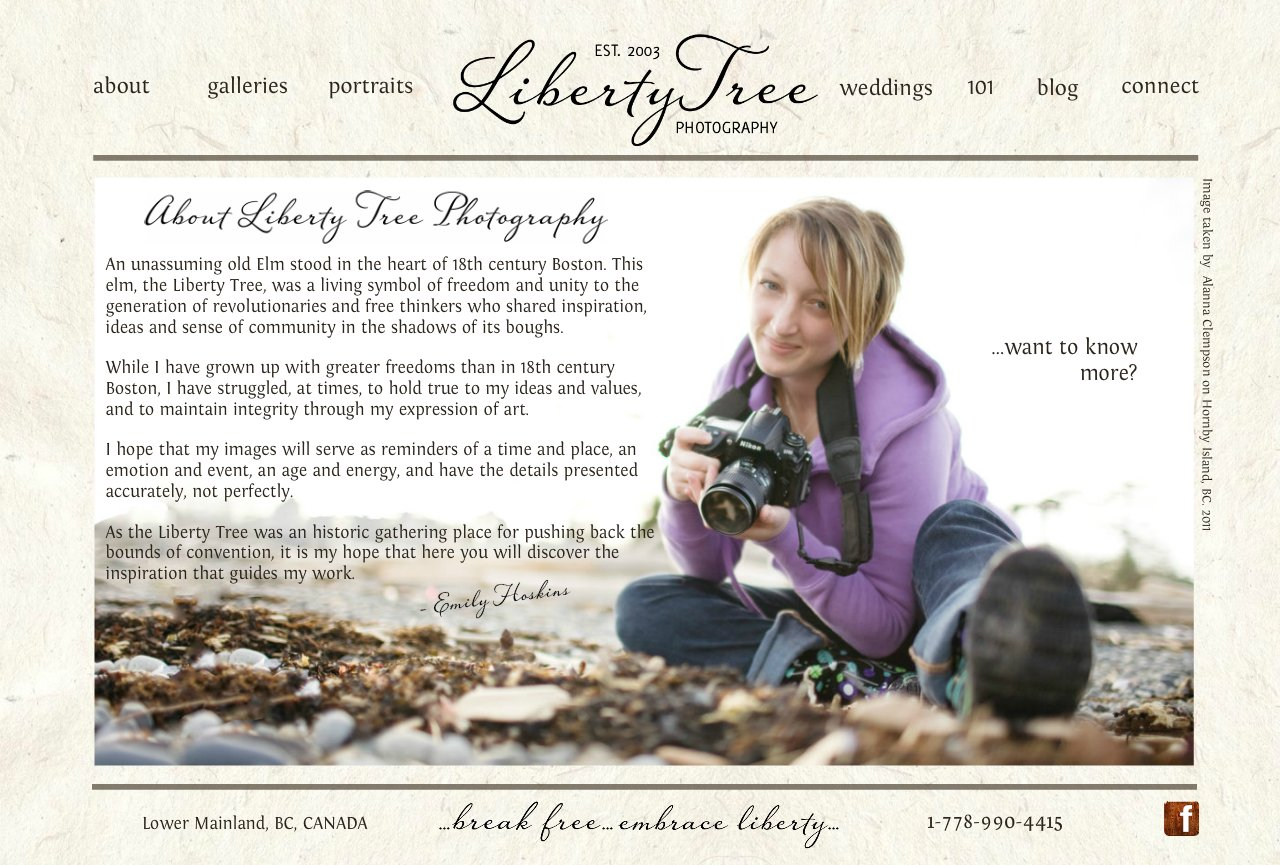 About Liberty Tree Photography