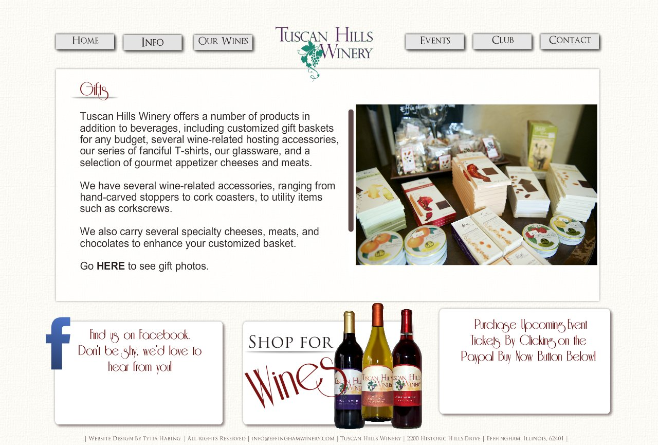 Gifts, Tuscan Hills Winery, Effingham, Illinois