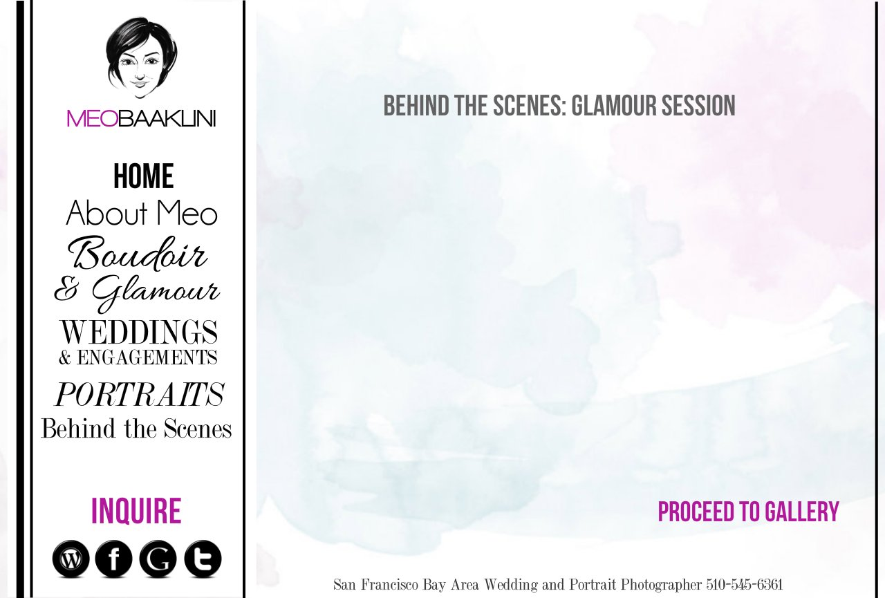 Behind the Scenes: Boudoir and Glamour Photography