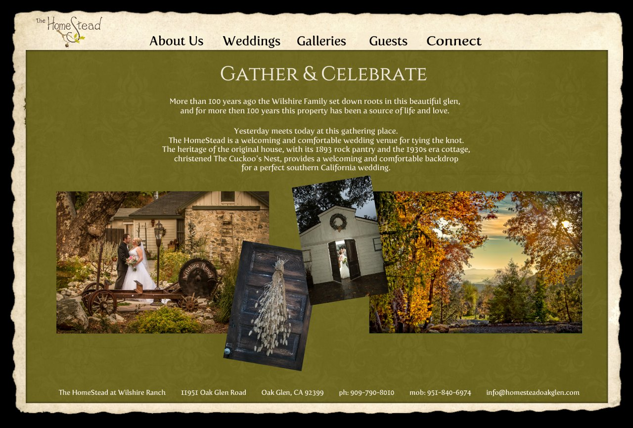The Homestead Your Outdoor Wedding Venue In Mountains Of Oak Glen California