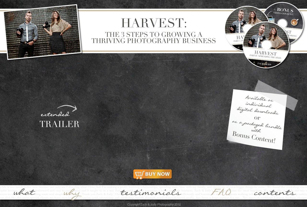 Harvest DVD