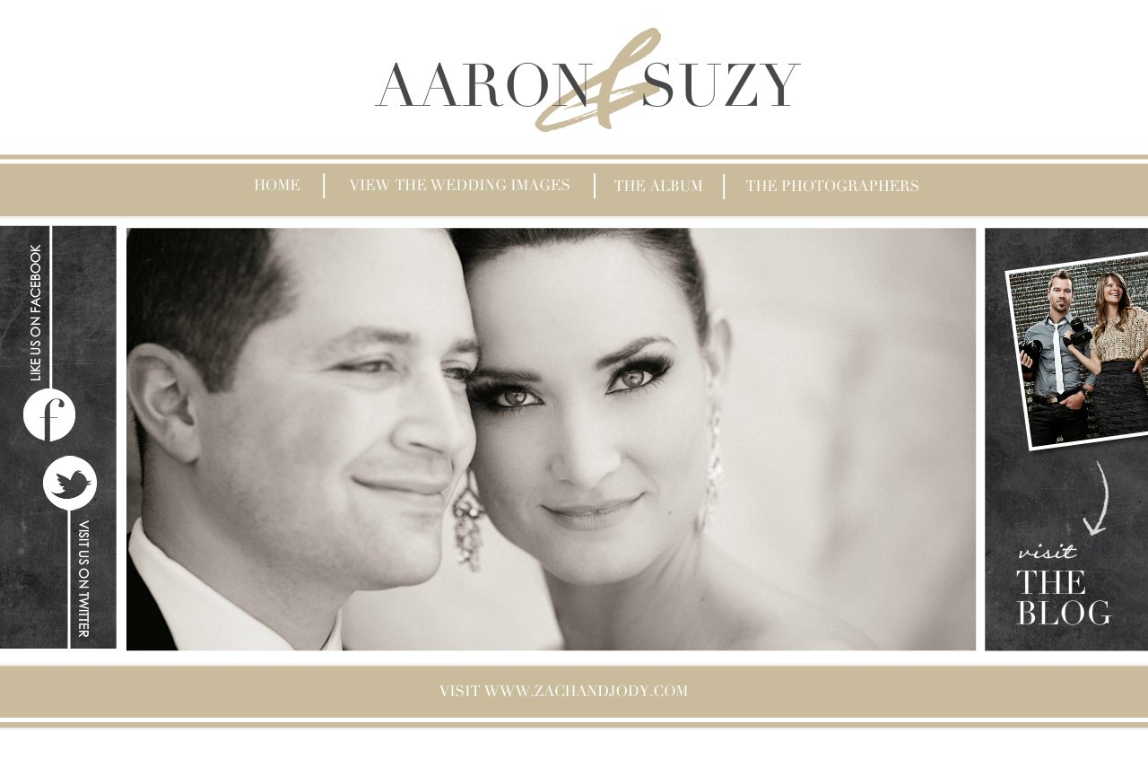 Aaron & Suzy's Wedding Website