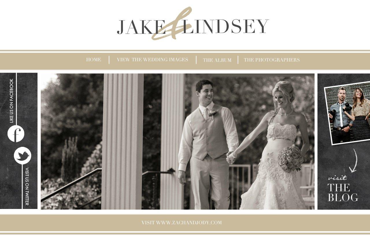 Jake & Lindseys Wedding Website