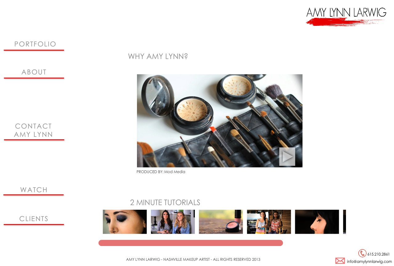 Nashville Makeup Artist Amy Lynn Larwig Videos