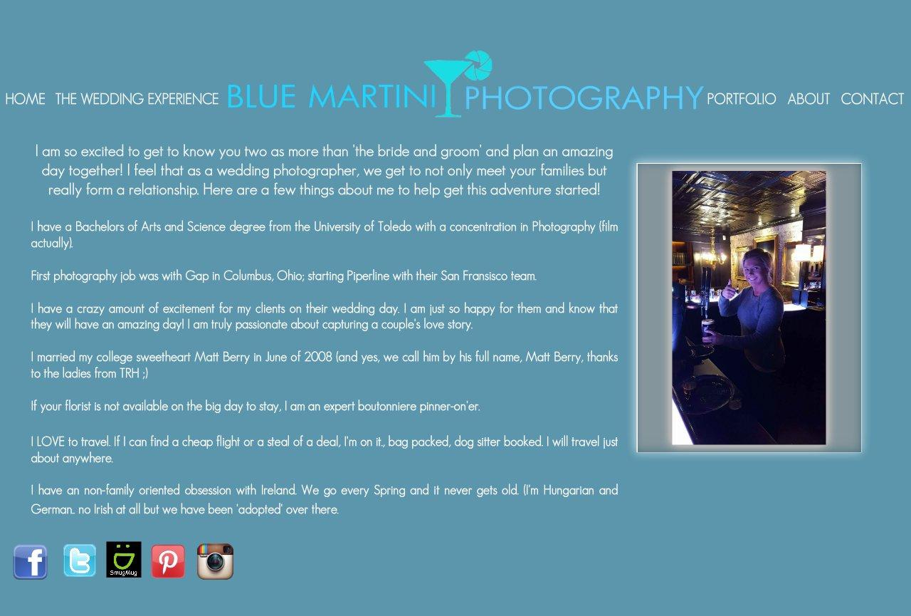 Blue Martini Photography - Christin Berry Biography - Blue