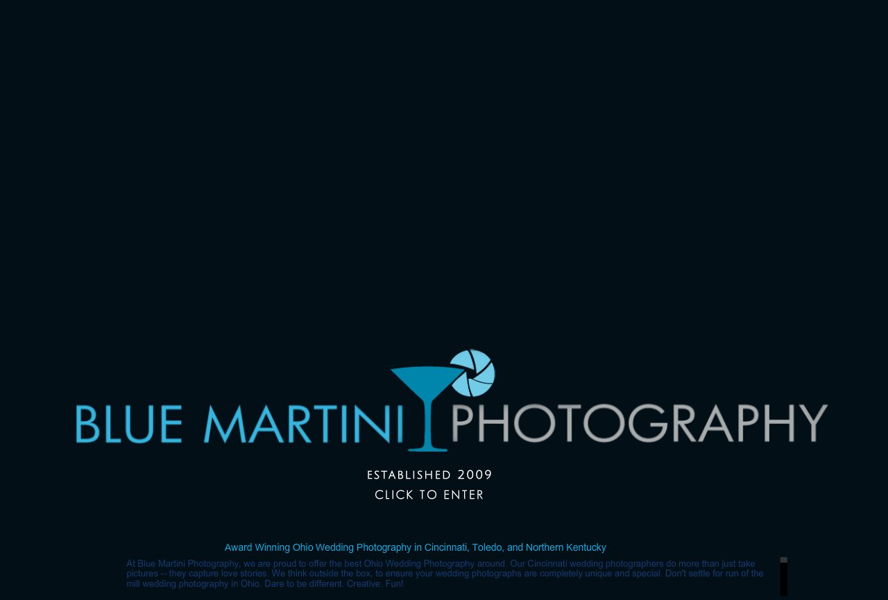 Wedding Photography in Northern Kentucky and Greater Cincinnati Ohio - Blue Martini