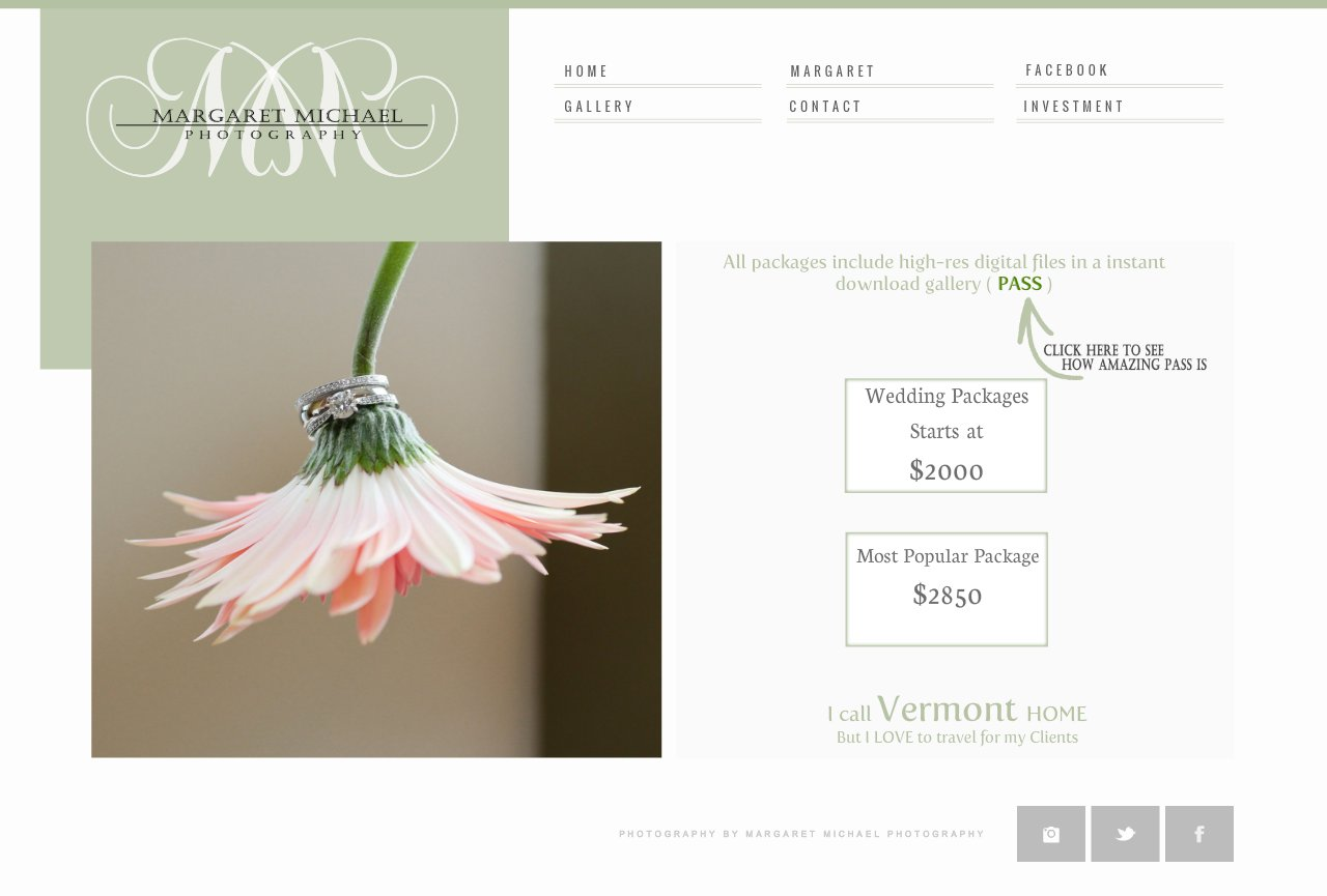 Margaret Michael Photography - Pricing - INFO