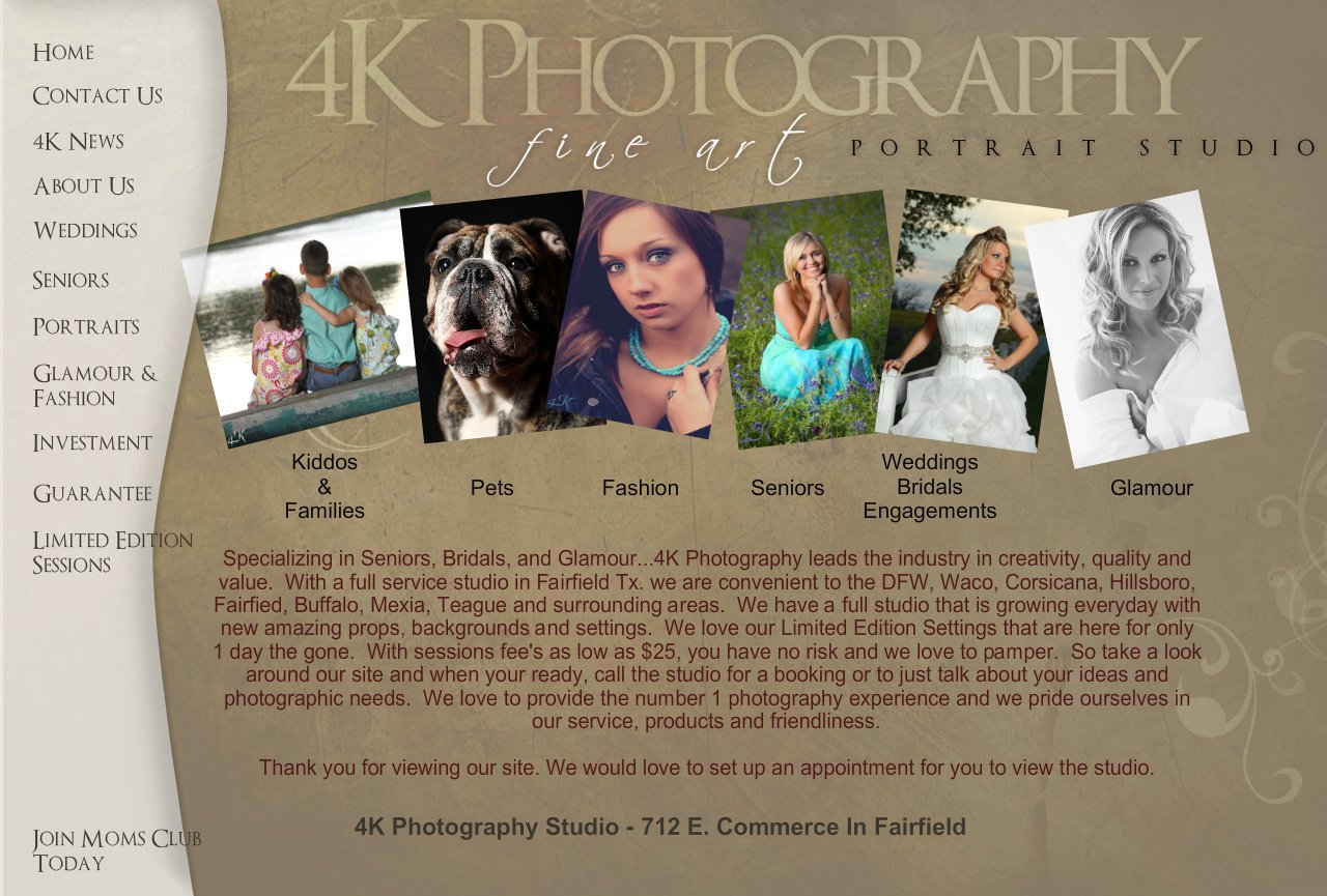 4K Photography - Fairfield Texas Studio