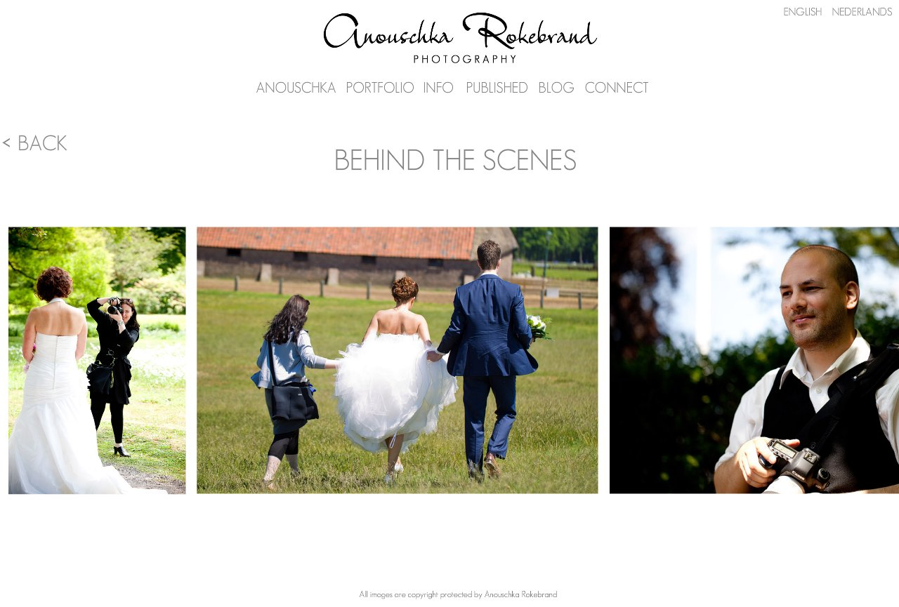 Anouschka Rokebrand Photography - Behind the scenes