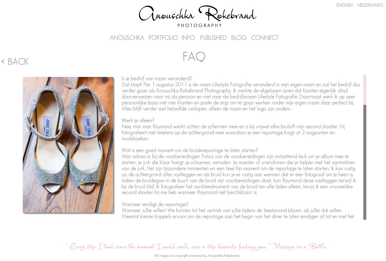 Anouschka Rokebrand Photography - FAQ