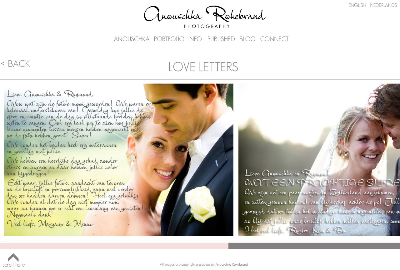 Anouschka Rokebrand Photography - Love Letters