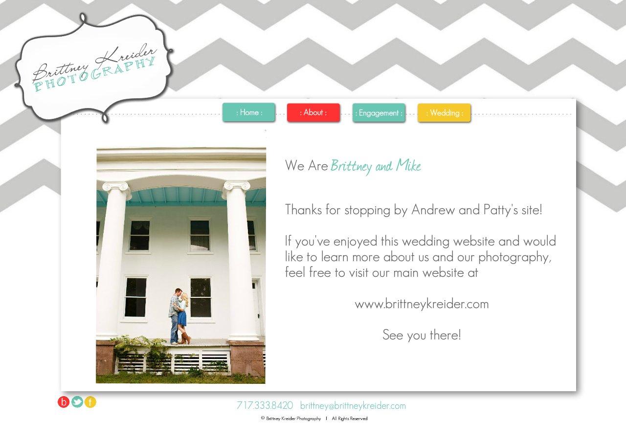 Brittney Kreider Photography : About Us : Lancaster PA Wedding Photographer