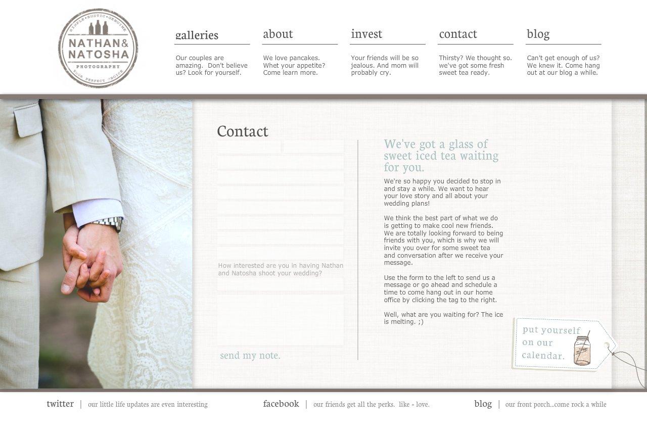 Atlanta Wedding Photographers | Contact Nathan and Natosha